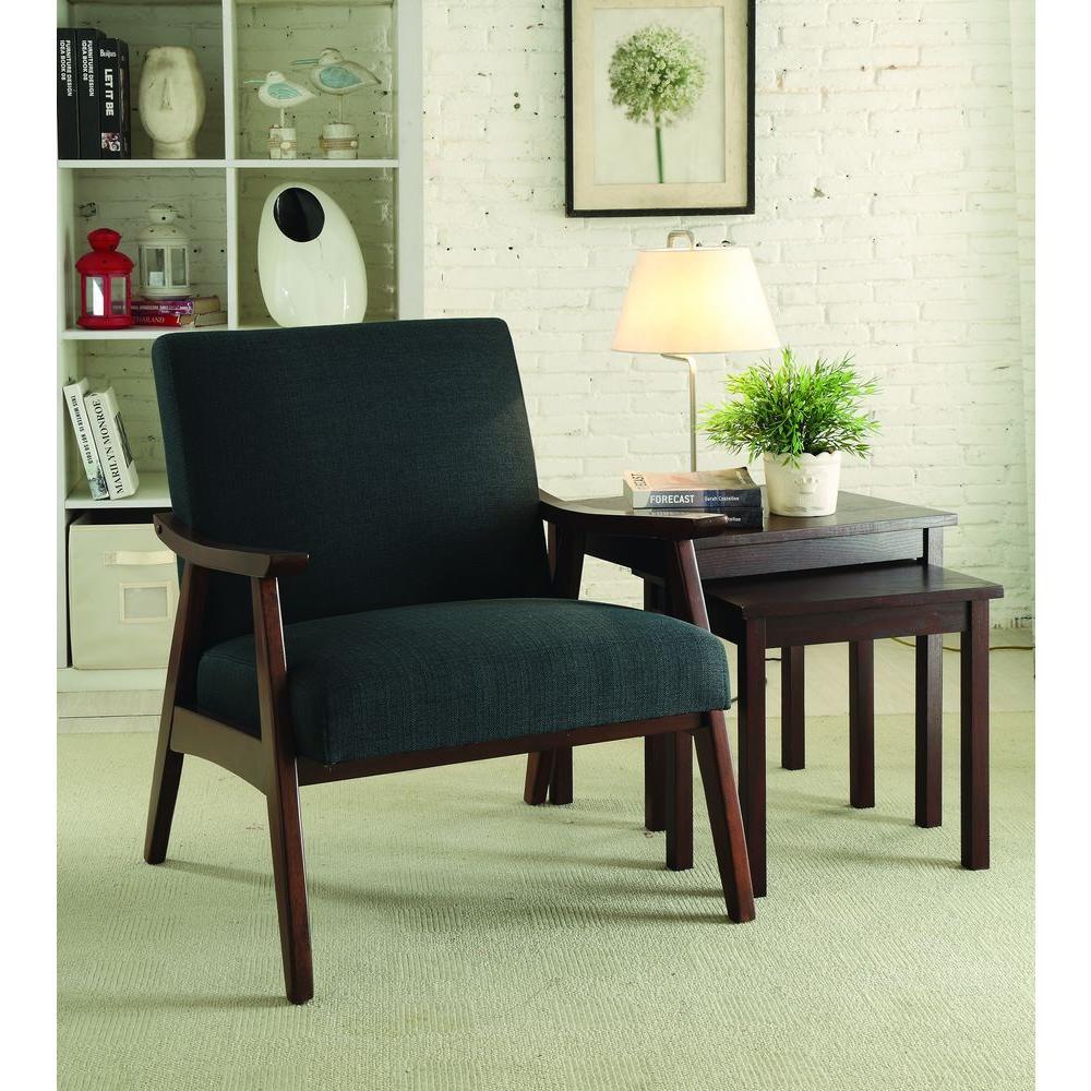 Davis Klein Charcoal Fabric Arm Chair
