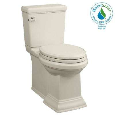 Town Square FloWise 2-piece 1.28 GPF Tall Height Elongated Toilet in Linen, Seat Included
