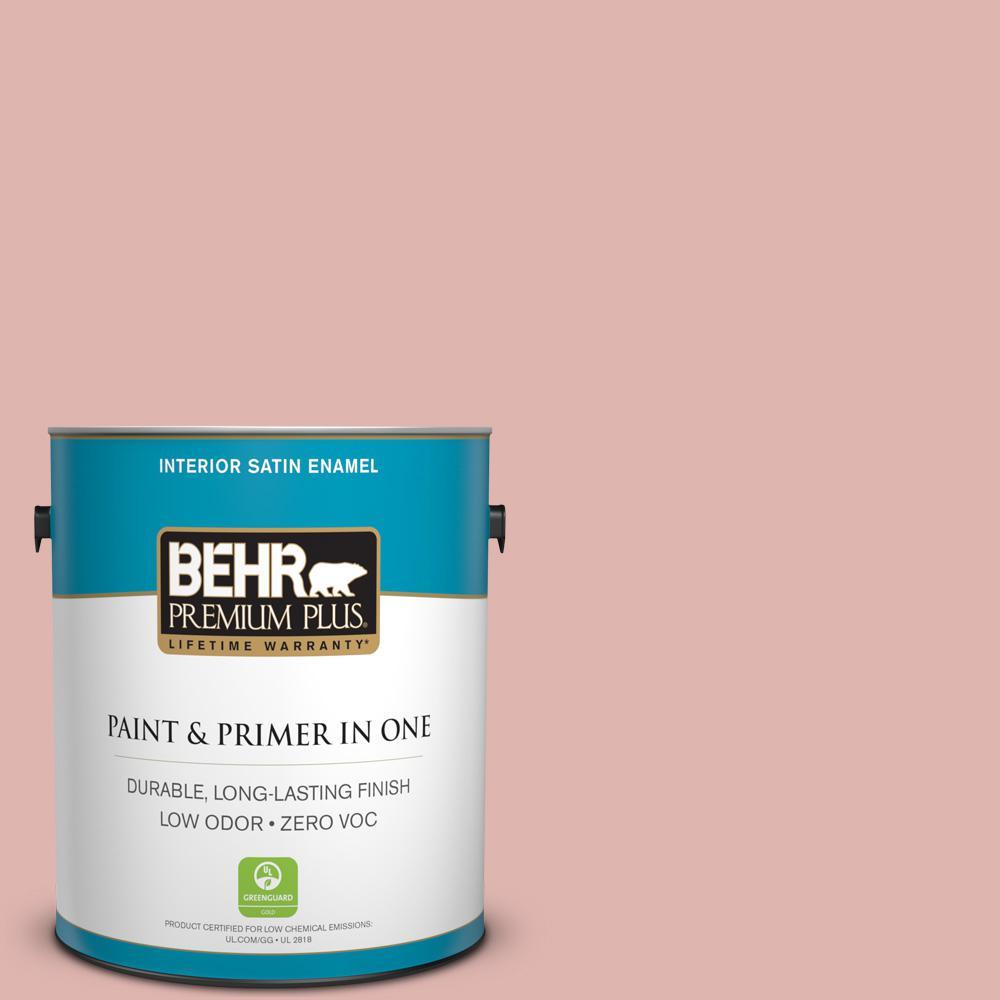 BEHR Premium Plus 1 gal. #S160-2 Pink Quartz Satin Enamel Low Odor ...