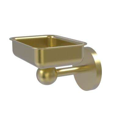 Skyline Collection Wall Mounted Soap Dish in Satin Brass