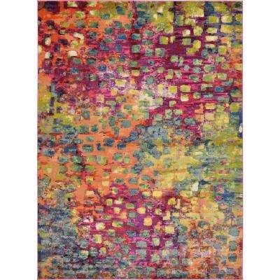 Abstract Multicolor Barcelona 8 ft. x 11 ft. Area Rug