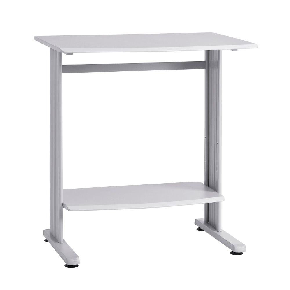 Buddy Products 40 in. H x 37 in. W x 27 in. D Grey Beveled Edge Stand-Up Computer Desk in Grey