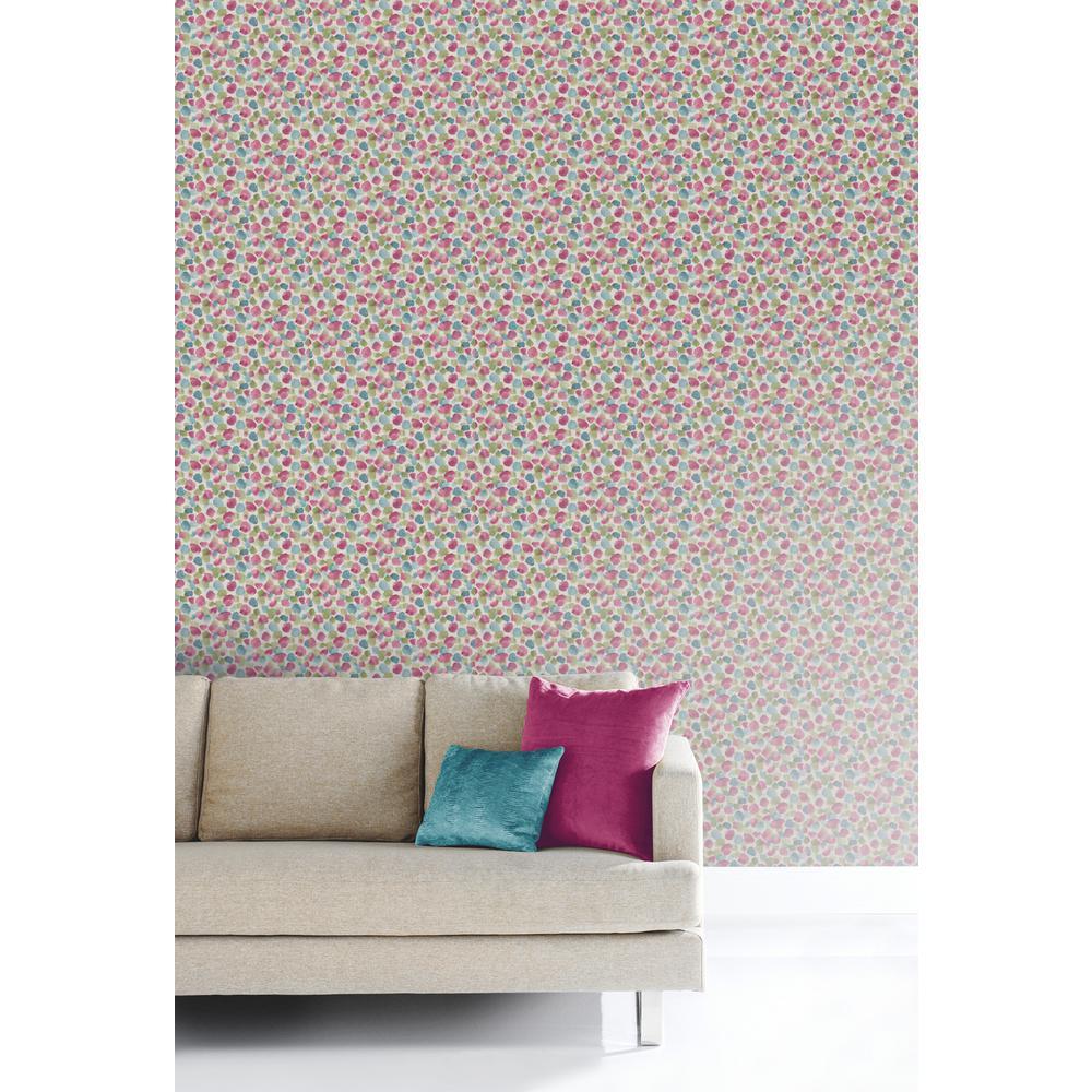 Painted Dot Raspberry Wallpaper