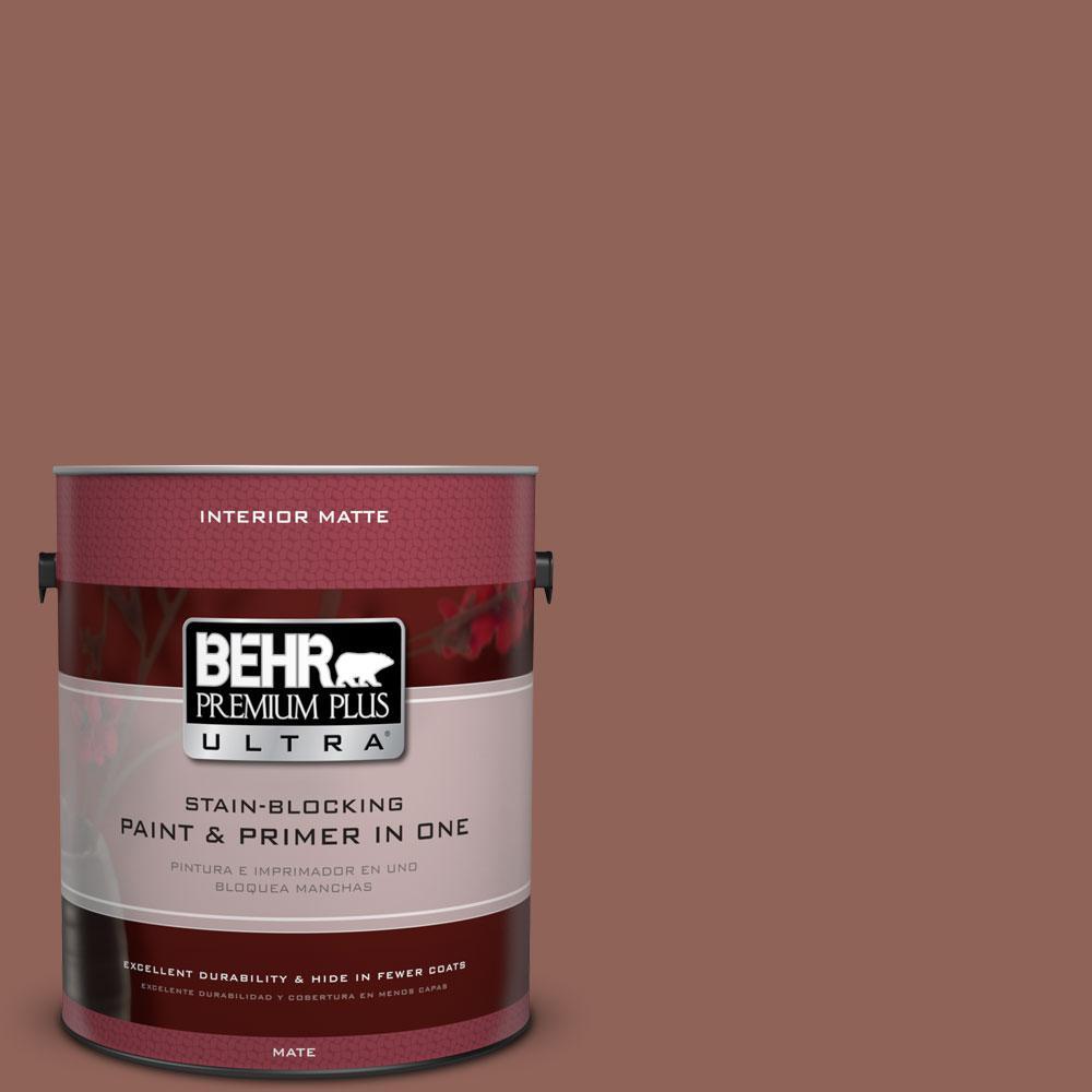 BEHR Premium Plus Ultra 1 gal. #BXC-57 Raw Sienna Matte Interior Paint
