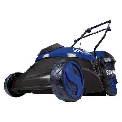 14 in. 28-Volt Cordless Walk-Behind Push Mower Kit with 5.0 Ah Battery and Charger, Blue