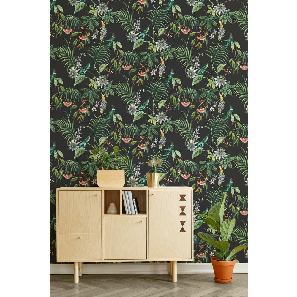 Superfresco Easy Adilah Dark Tropical Floral Removable Wallpaper