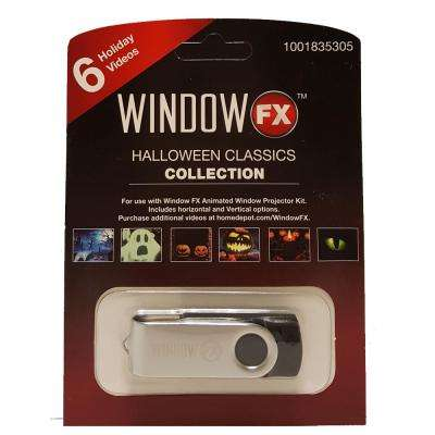 2 in. WindowFX Halloween Classics Collection USB with 6 videos