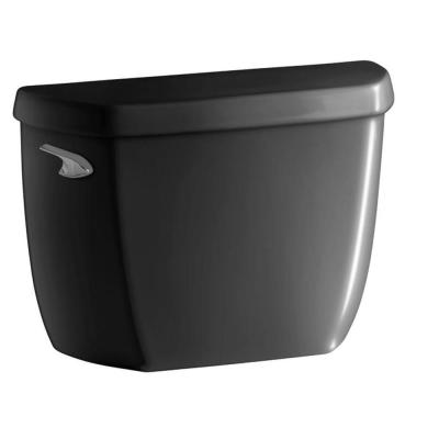 Wellworth Classic 1.28 GPF Single Flush Toilet Tank Only with Class Five Flushing Technology in Black Black