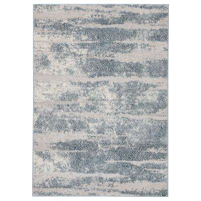 Tresca Silver 2 ft. 7 In. x 8 ft. 2 In. Abstract Runner Rug