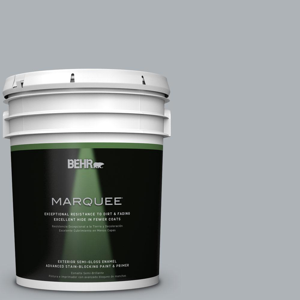 5 gal. #N510-3 Stargazer Semi-Gloss Enamel Exterior Paint and Primer in