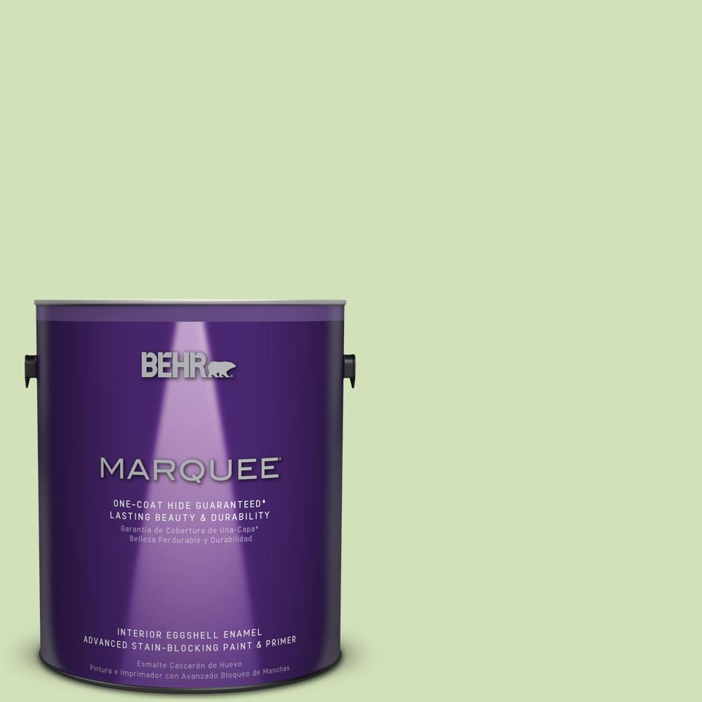BEHR MARQUEE 1 gal. #MQ4-45 Spring Glow One-Coat Hide Eggshell Enamel Interior Paint