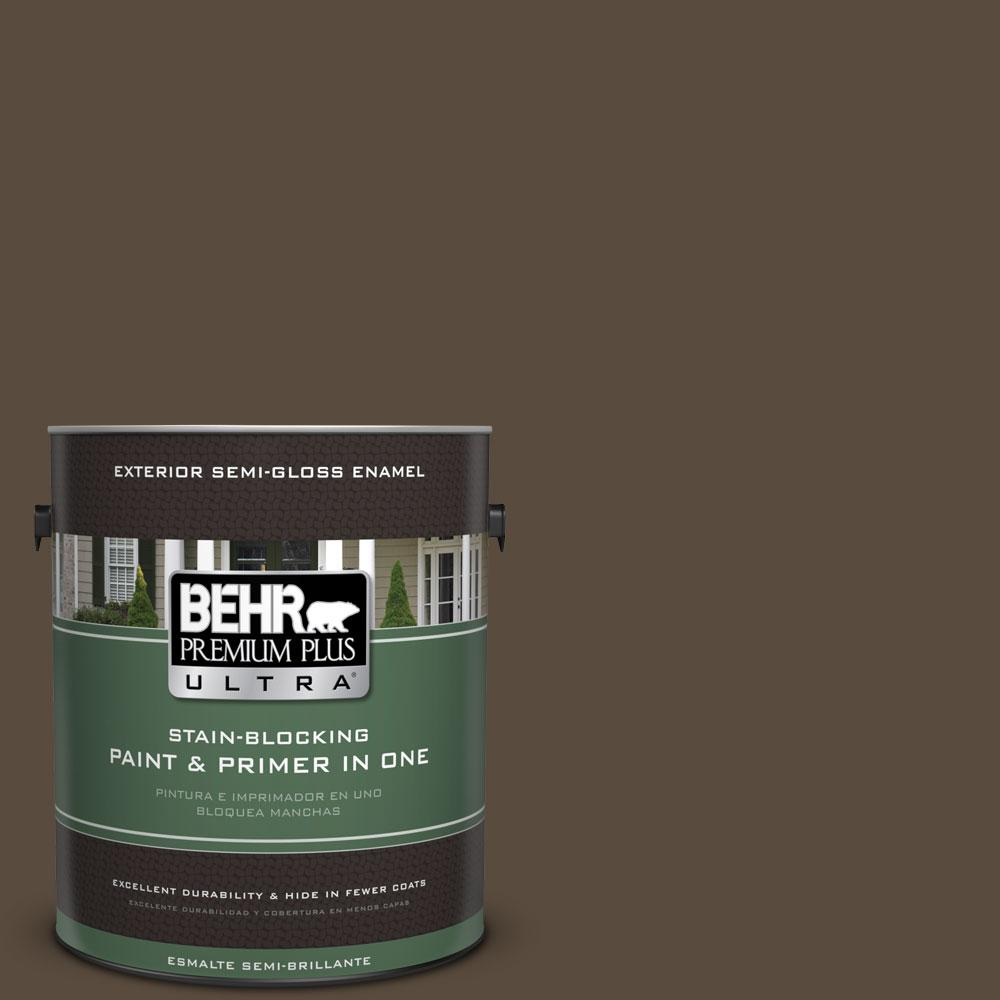 BEHR Premium Plus Ultra 1-gal. #S-H-710 Dried Leaf Semi-Gloss Enamel Exterior Paint