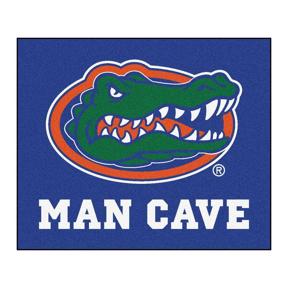 University of Florida Blue Man Cave 5 ft. x 6 ft. Area Rug