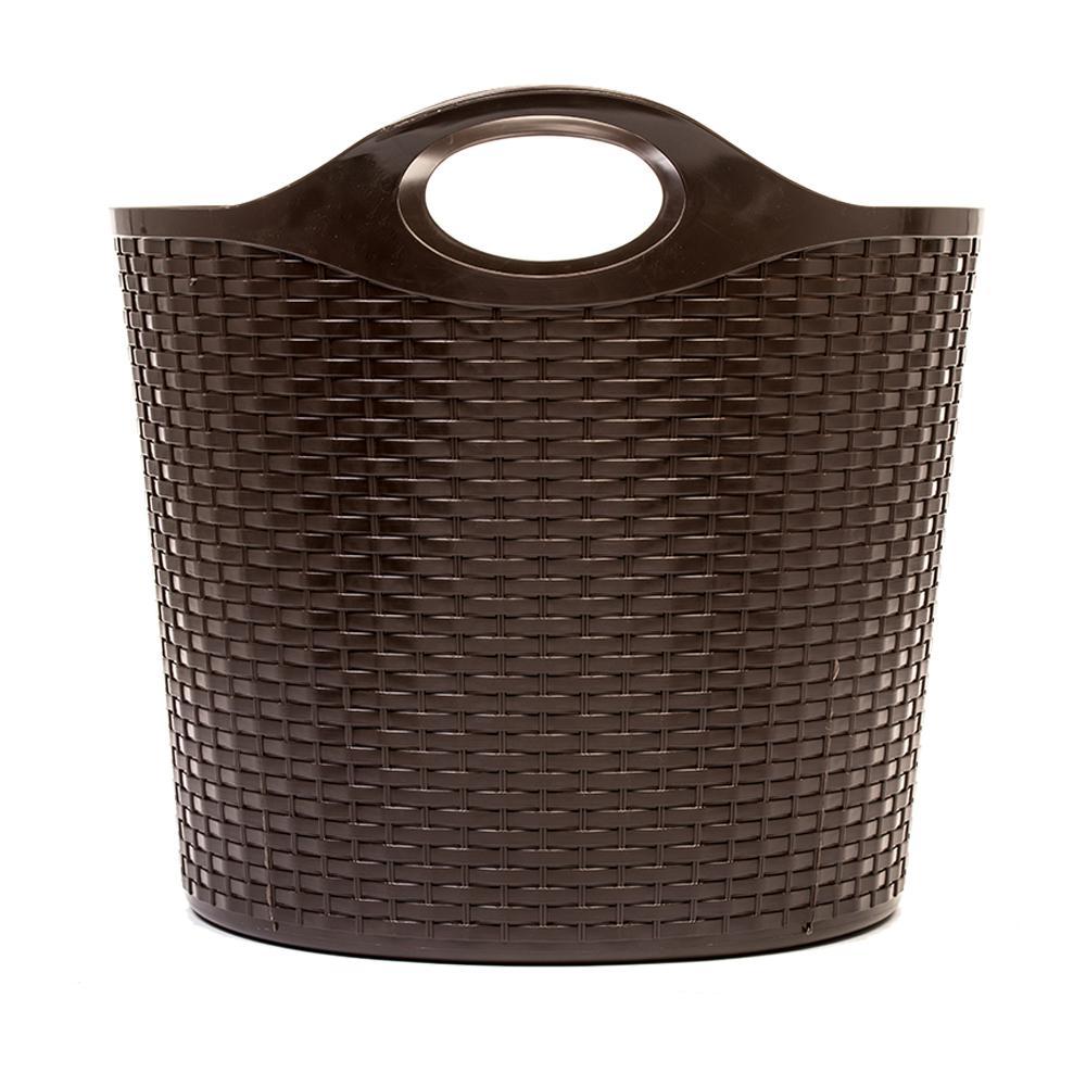 11 Gal. Wicker Flex Tub in Brown