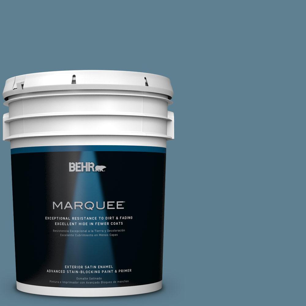 BEHR MARQUEE 5-gal. #BXC-36 Aegean Blue Satin Enamel Exterior Paint