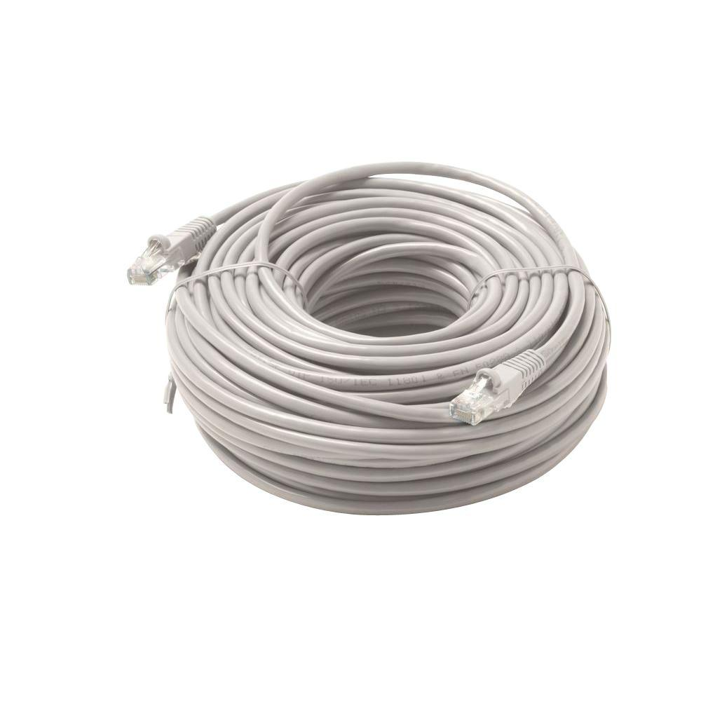 steren 50 ft molded cat6 utp patch cord grey st 308 950gy the home depot. Black Bedroom Furniture Sets. Home Design Ideas