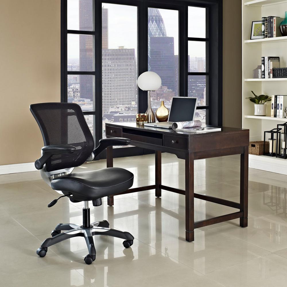 Edge Vinyl Office Chair in Black