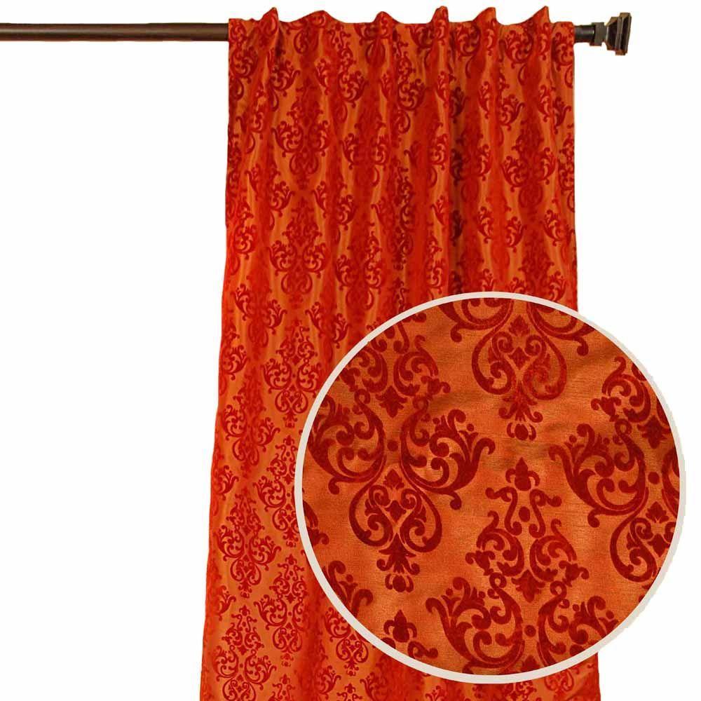 Home Decorators Collection Sheer Pari Terracotta Back Tab Curtain
