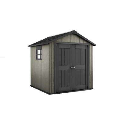 Oakland 7.5 ft. x 7 ft. Plastic Outdoor Storage Shed