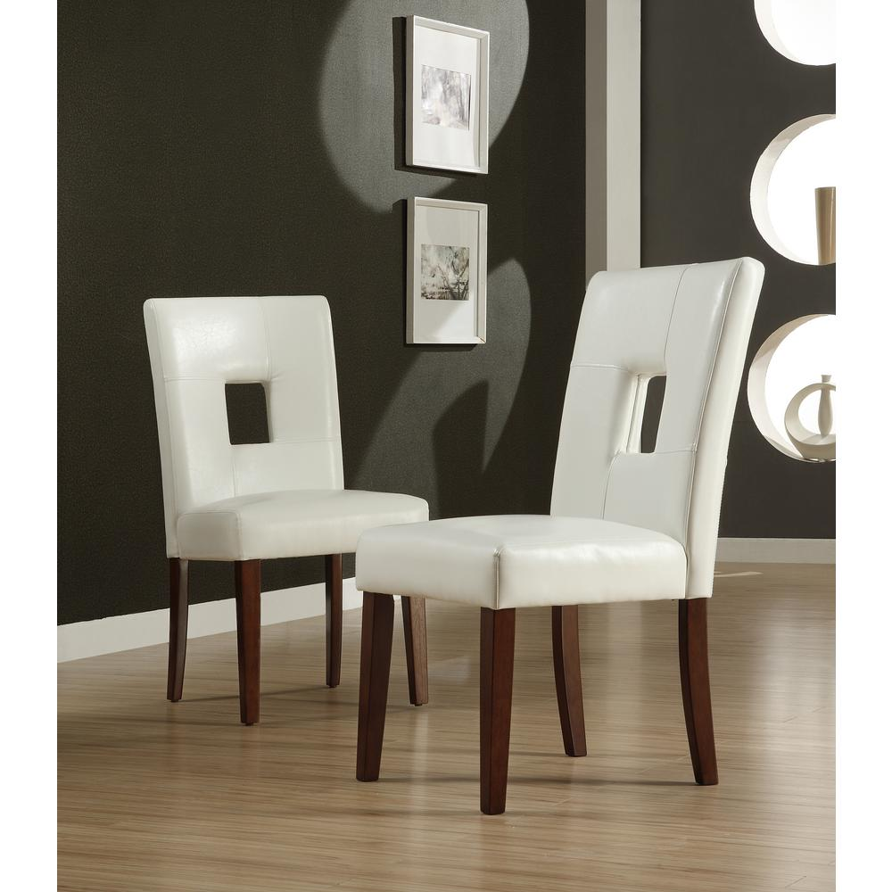 Leather Couch Cleaner Nyc: White Faux Leather Side Chair Collection Upholstered Seat