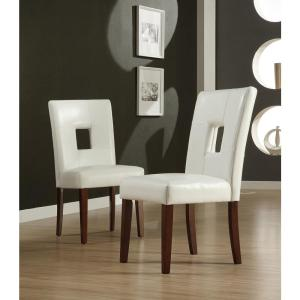 White Faux Leather Side Chair (Set of 2)