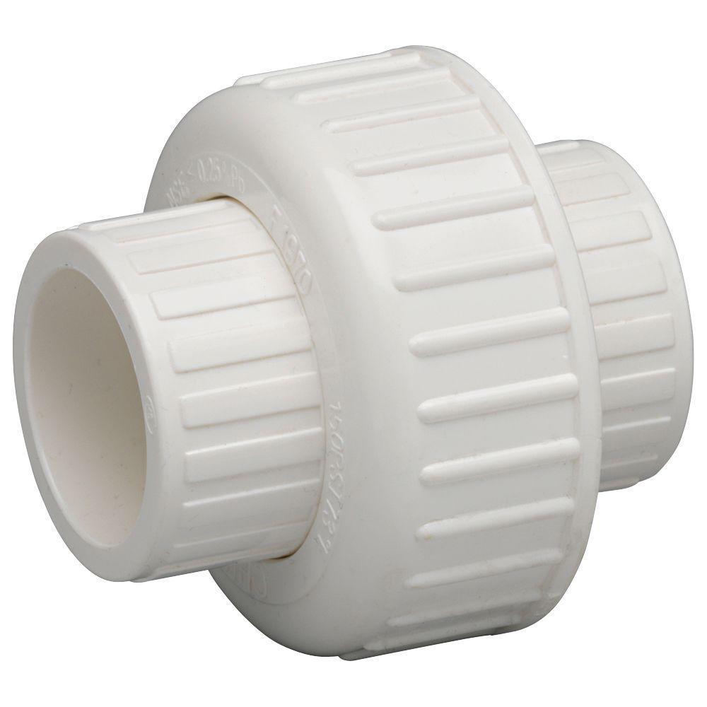 1/2 in. Schedule 40 PVC Pipe Union - Slip x Slip (10-Pack)