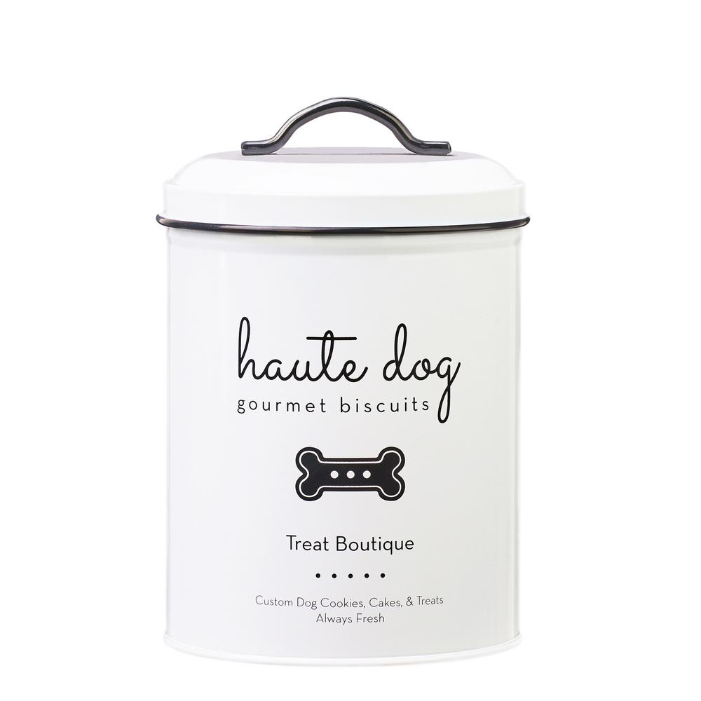 Haute Dog 72 oz. Metal Pet Treats Canister