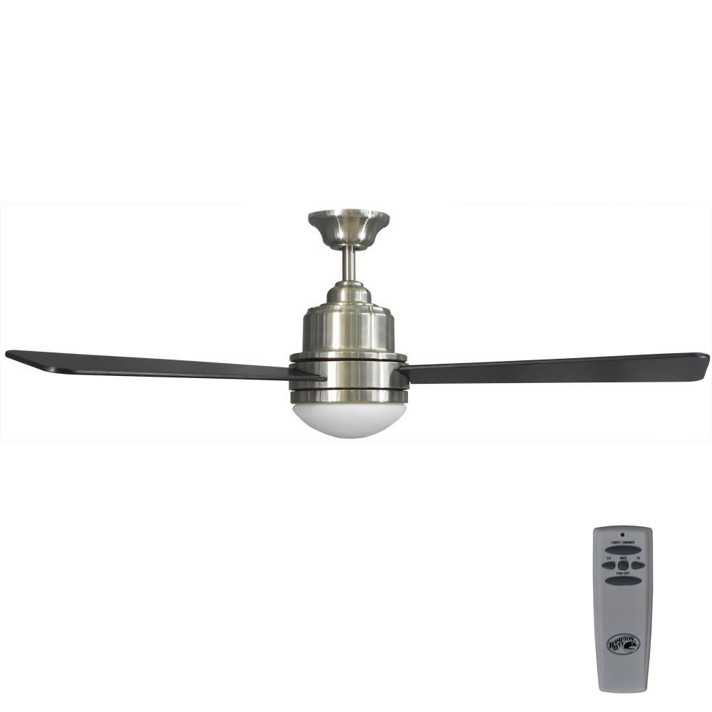 Trieste 52 in. LED Indoor Brushed Nickel Ceiling Fan with Light