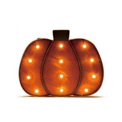 12.89 in. H Marquee LED Short Pumpkin