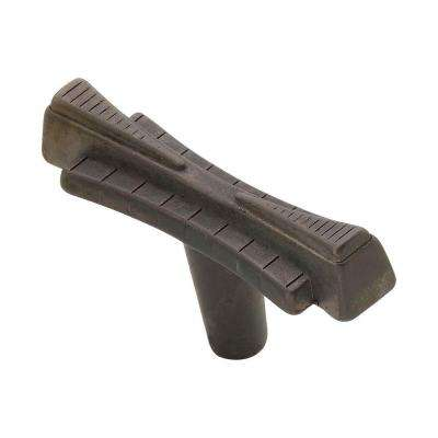 2.5 in. Oil-Rubbed Bronze Art Deco Knob