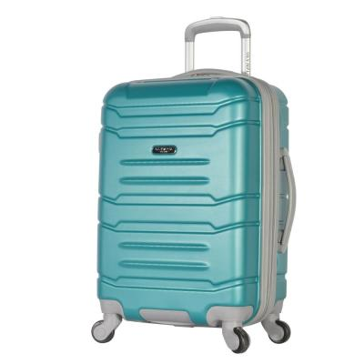 Denmark 21 in. Teal Expandable Carry-On Spinner with Hidden Compartment