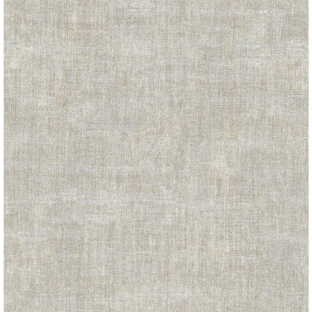 56.4 sq. ft. Gramercy Grey Linen Wallpaper