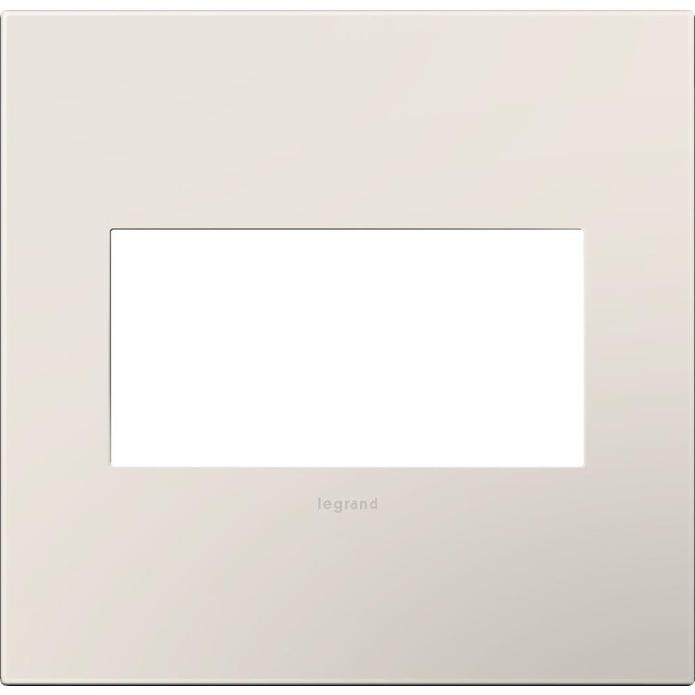 legrand adorne 2 gang 2 module wall plate satin light almond awp2gla4 the home depot. Black Bedroom Furniture Sets. Home Design Ideas