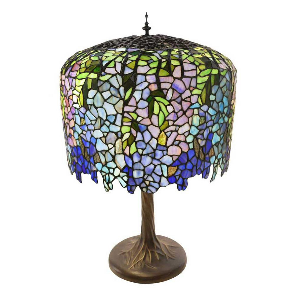 River Of Goods 30 In Multi Colored Table Lamp With Stained Glass