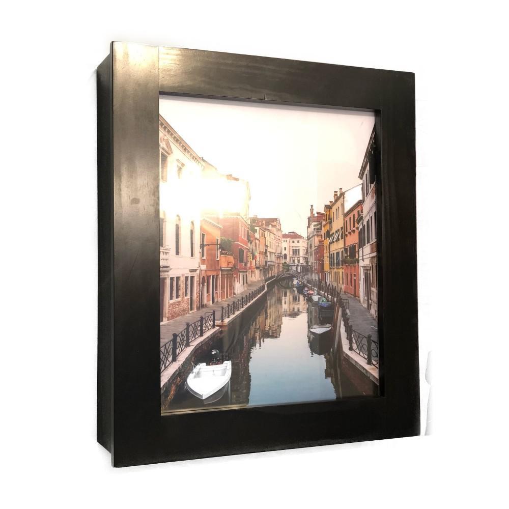 Flip Frame 20.75 in. x 24.5 in. Surface-Mount Medicine Cabinet in Espresso