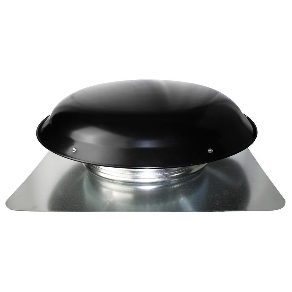 Ventamatic 1400 Cfm Black Galvanized Steel Electric Powered Attic Fan With Adjustable Thermostat Cx2001amblups The Home Depot