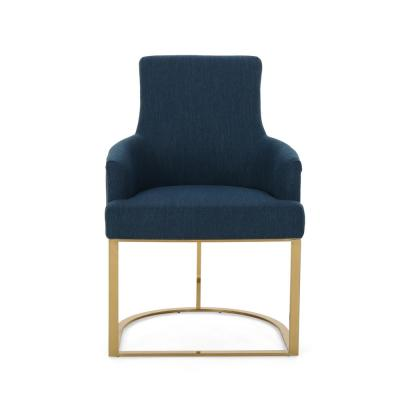 Gloria Navy Blue Fabric Accent Chair