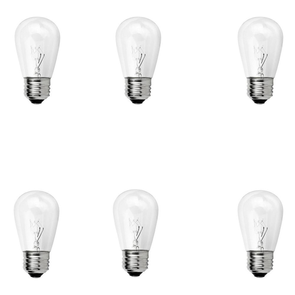 Newhouse Lighting Outdoor Weatherproof 11Watt S14 Incandescent Replacement String Light Bulb
