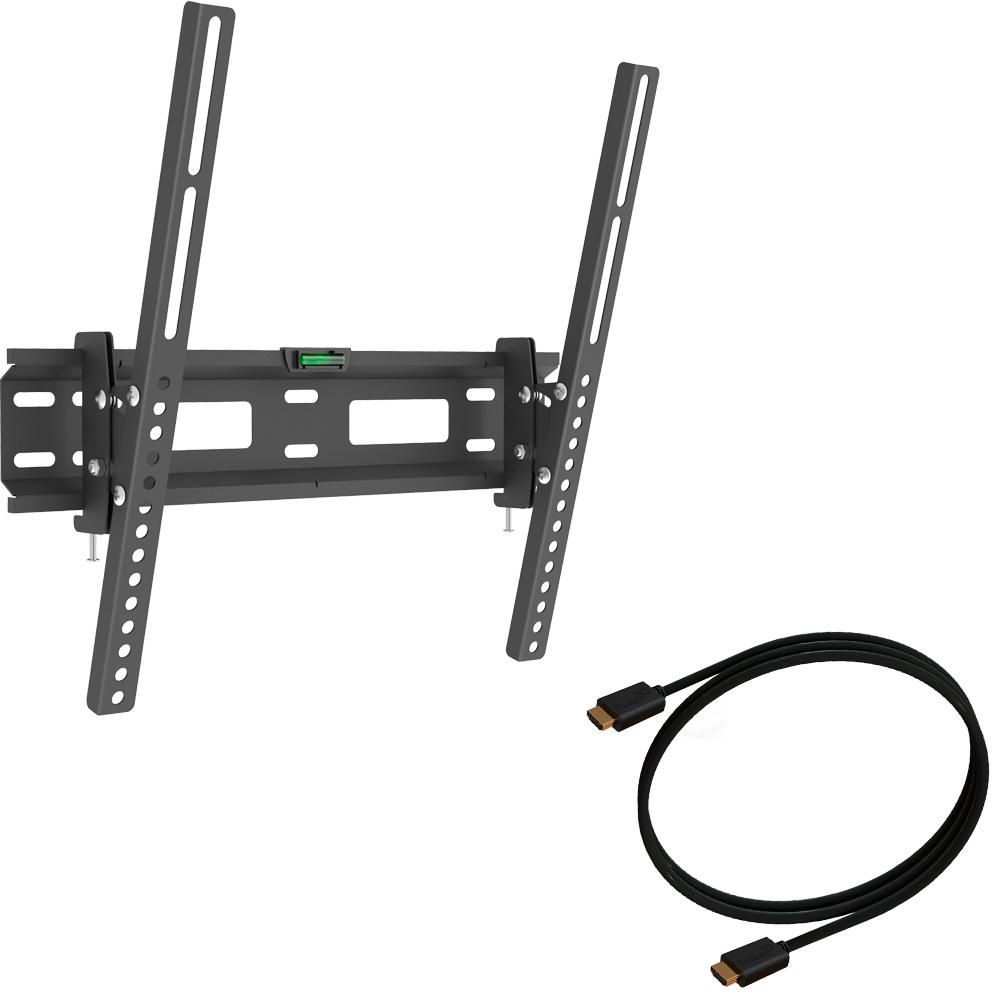 Barkan a Better Point of View The Barkan 2-in-1 combo consists of: A tilt wall mount for flat / curved screens sizes 13 - 60 inches and weight up to 88lbs It allows tilt from 0 till 15 degrees., Black -  CHD310.B