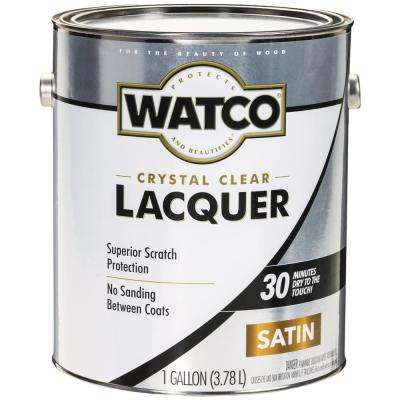 1 gal. Clear Satin Lacquer Wood Finish (2-Pack)