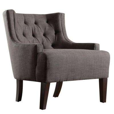 Lexington Charcoal Linen Barrel Back Arm Chair