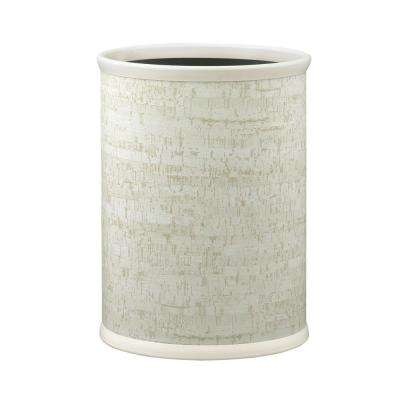 Stucco Cork 13 qt. Oval Waste Basket