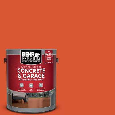 1 gal. #P190-7 Inferno Self-Priming 1-Part Epoxy Satin Interior/Exterior Concrete and Garage Floor Paint