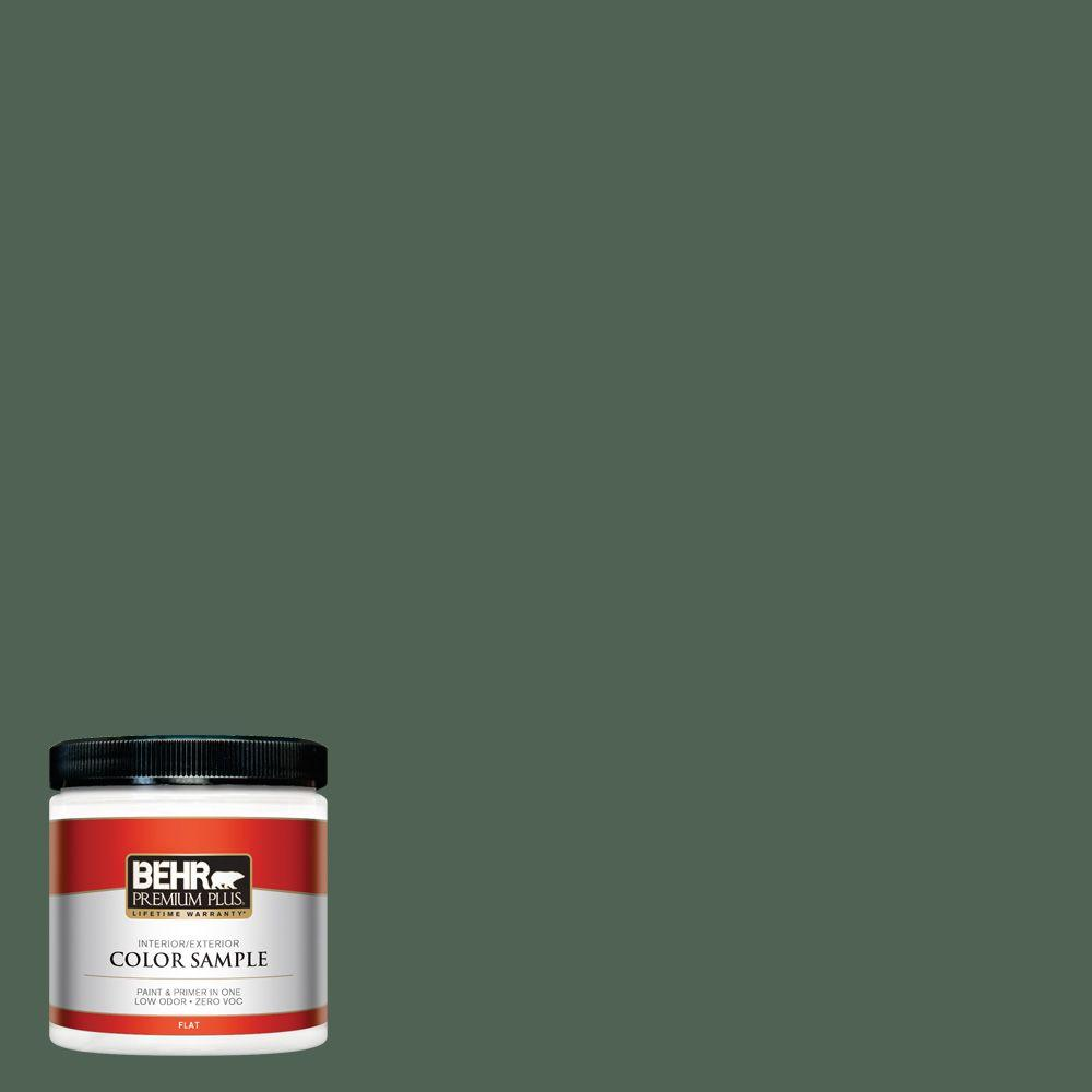 8 oz. #BXC-60 Pasture Green Interior/Exterior Paint Sample