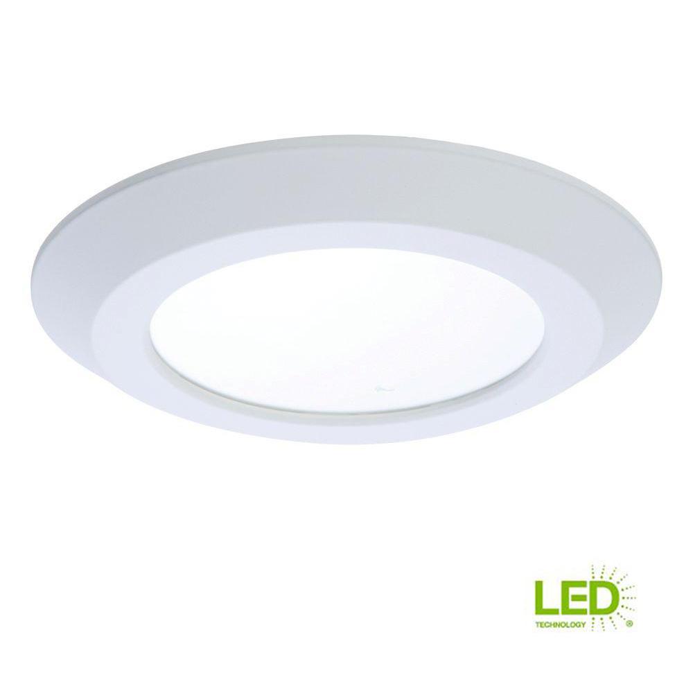 White Integrated Led Recessed Ceiling Flushmount Light