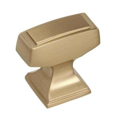 Mulholland 1-1/4 in (32 mm) Length Golden Champagne Cabinet Knob