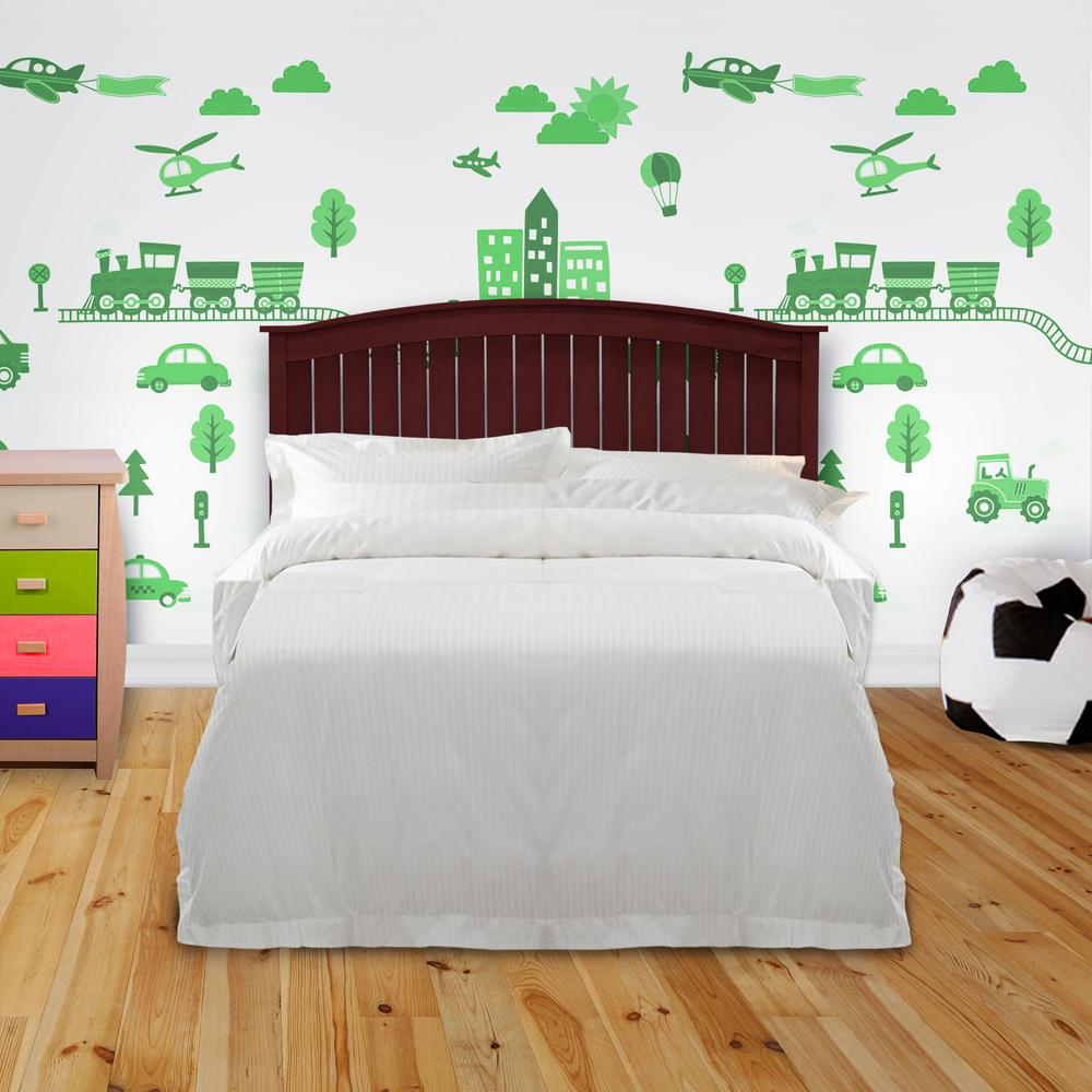 Fashion Bed Group Finley Merlot Queen Wooden Headboard ...