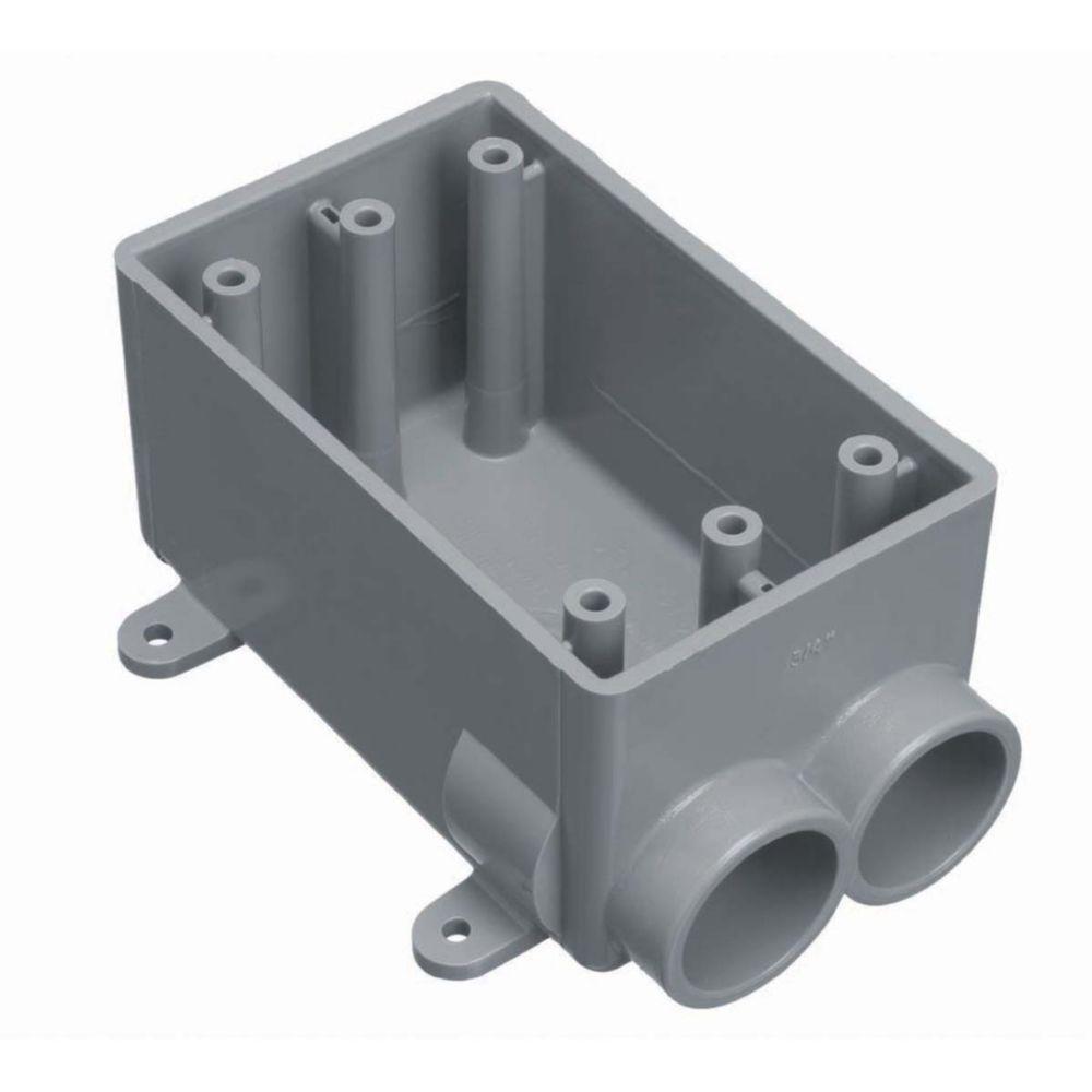 3/4 in. 1-Gang PVC FS Box (12 per Case)