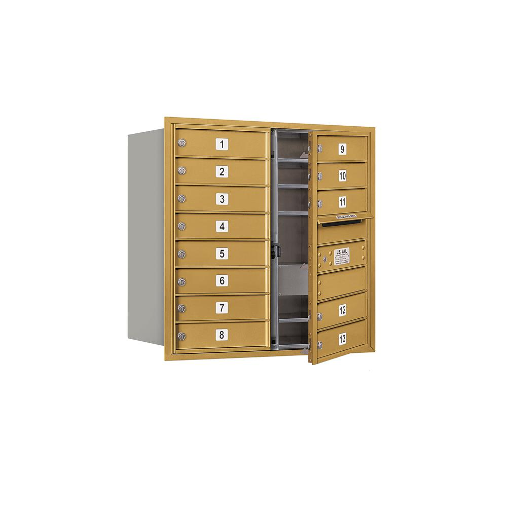 3700 Horizontal Series 13-Compartment Recessed Mount Mailbox