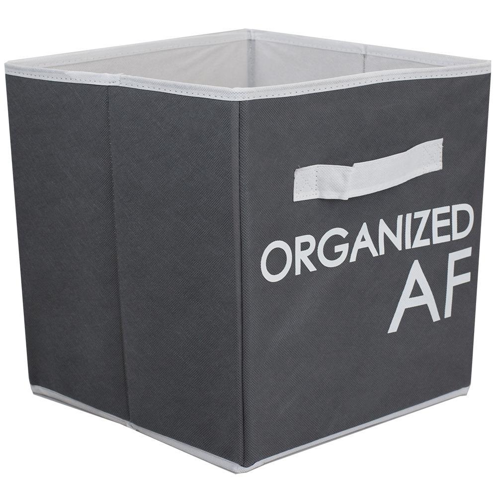 10 in. x 11 in. Grey Organized AF Bin